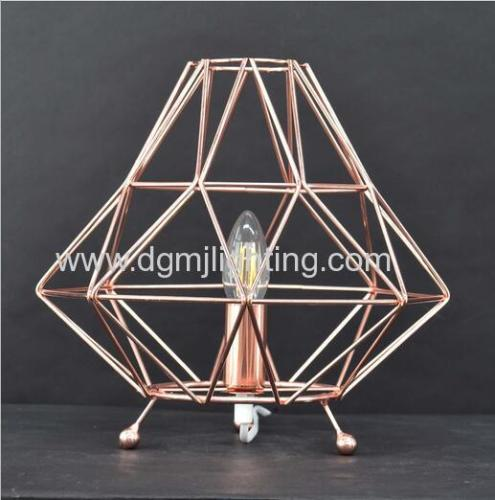 Bremen Geometric Table Lamp Copper