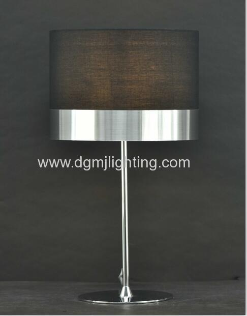 Table Lamp with copper PVC shade H 450MM