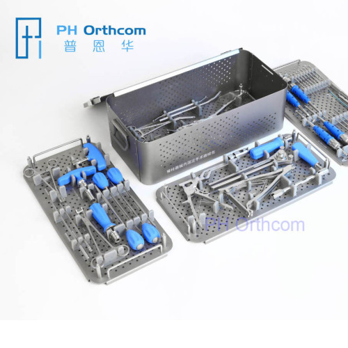 Spinal Fixation Instruments Set for 5.5 and 6.0mm Pedicle Screws and Rods OEM Available for 4.5mm System