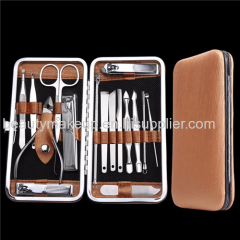 mens manicure set leather ladies manicure at home french manicure pedicure kit nail kit nail clippers face care tools