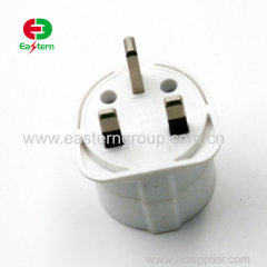 13a 2 round pin uk to eu ac/dc power plug adapter with BS8546