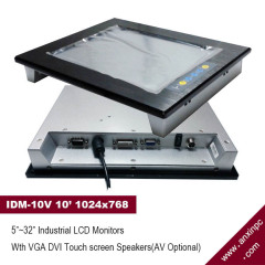 10.4 inch Industrial Flat Panel LCD monitor display with touch screen