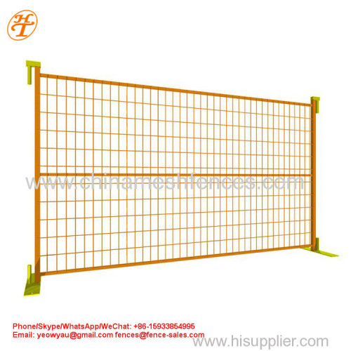 High Quality Powder Coated Galvanized Canada Temporary Removable Metal Fencing