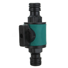 Plastic 2-way water hose connector valve for water irrigation