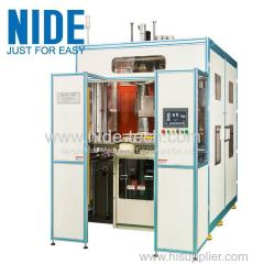 Fully automatic motor winding machine and stator coil insertion machine