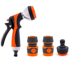 Metal Multifunction Soft Garden Hose Nozzle Set