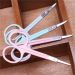 pink rosy light blue light green best eyebrow scissors metal scissors eyebrow trimmer small scissors makeup scissors