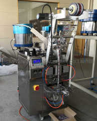 Full Automatic Screw Nuts Packing Machine with Spray Adhesive Bowls