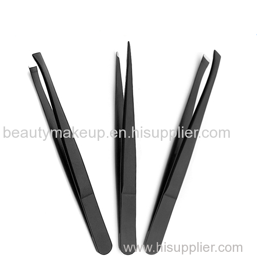 black fine point tweezers slant tip tweezer eyebrow tweezers best tweezers for eyebrows tweezerman tweezers
