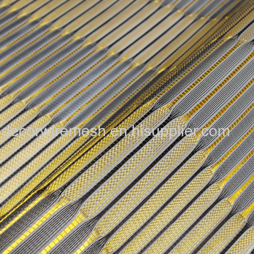 Metallic Cloth with Brass Wire for Cabinet Decoration