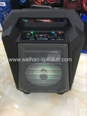 Big sound wireless speaker with bluetooth portable stereo wtih flash light and mic karaoke speakers