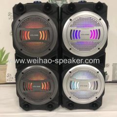 6 inch wireless speaker with bluetooth and cable microphone 2 speakers