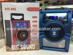 2019 new desing flash light wilress blueooth speaker big sound quality