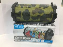 The Portable Barrel Wireless Bluetooth Speakers support usb tf card fm radio With Carrying Strap