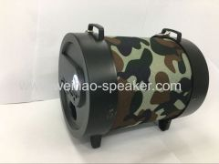 Portable outdoor portable hand-held/retractable high-power cannon with bluetooth speaker cartridge