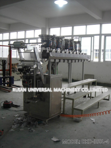 Automatic Hardware Screw Nail Packaging Machine with 4 disks