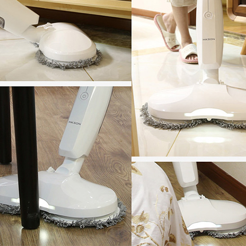 Hardwood kitchen spin dry mop and bathroom wool dust mop