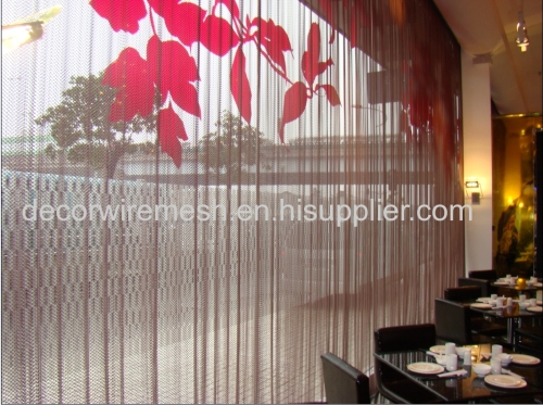 Steel drapery / Divider for room decoration