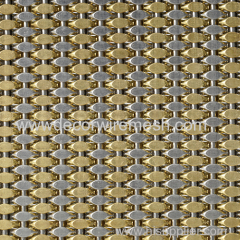 GD-SC301 crimped mesh for elevator cab decor brass mesh
