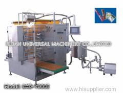 Full Automatic Chemical Agent Water Liquid Filling Packaging Machine 4 side seal