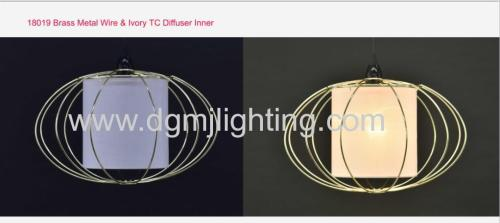 18019 Brass Metal Wire & Ivory TC Diffuser Inener