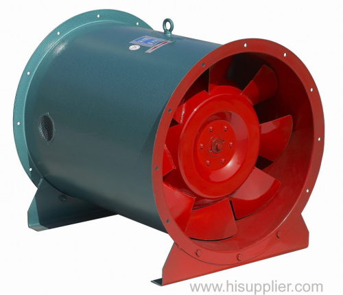 Fire-control Diagonal Flow Fan for Extraction Smoke