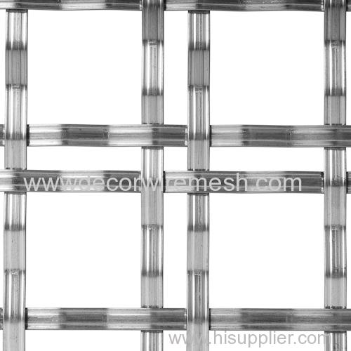 GR-13530 flat bar crimped mesh partition screen mesh