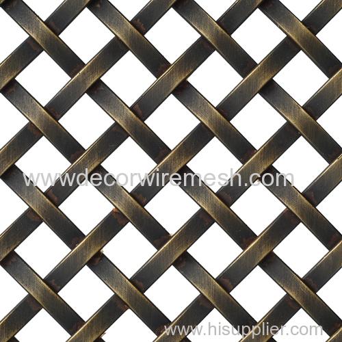GR-3510 brass antique mesh rhombus woven fabric