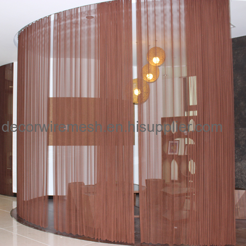 Metal mesh as Partition in Restaurant