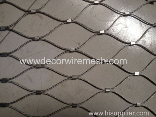 stainless steel woven rope mesh zoo mesh