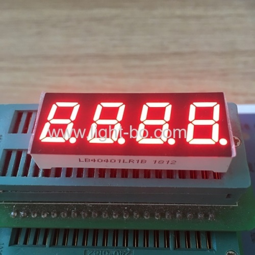 Super red 0.4  4 Digit 7 segment led display common cathode for instrument panel