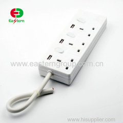 3way / 4way / 5 way / 6 Way 13A plug power extension socket with copper wire