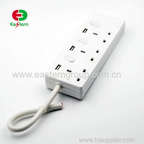 3way EU electric socket