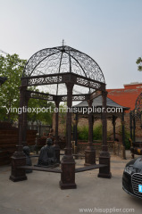 Beautiful cast iron garden gazebo