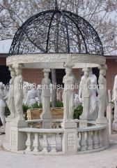 Nice hand carved figure pavilion