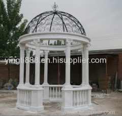 Hand carved natural marble column gazebo
