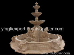 Beautiful hand carved marble horse fountain