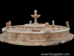 Nice hand carved natural marble lion fountain