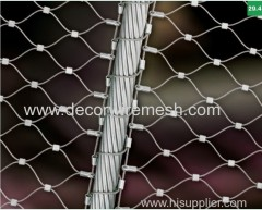 black oxide cliped rope mesh