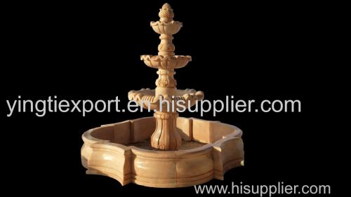 Nice hand carved three layer fountain