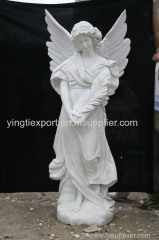 Hand carved marble angel statue