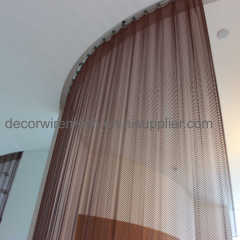 Metallic Curtain as Divider for Restaurant