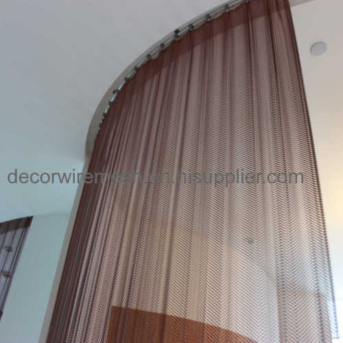 figured metal curtain screen  circle shape curtain