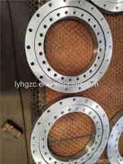 Crossed roller slewing bearings with external gear teeth