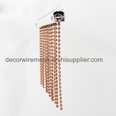 Fashionable metal ball chain curtains