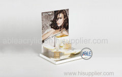 Acrylic Display Stands Customized Graphic / Size For Makeup Products