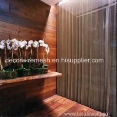Flexible Mesh Curtain as Divider