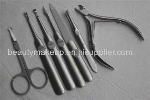 Fashion power factory mens manicure set ladies manicure at home leather manicure set pedicure kit nail kit nail clippers