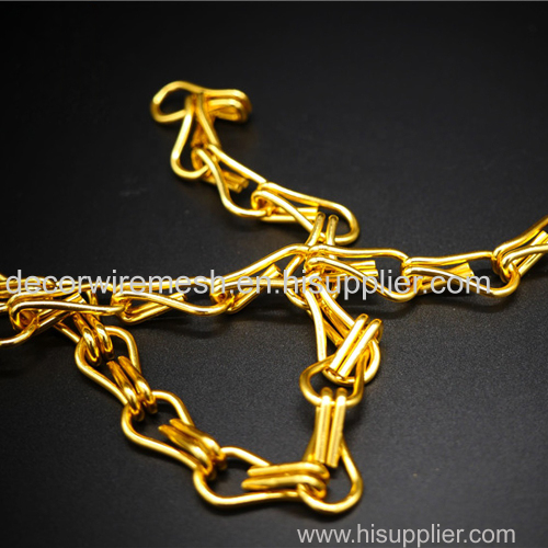 golden aluminum chain curtain