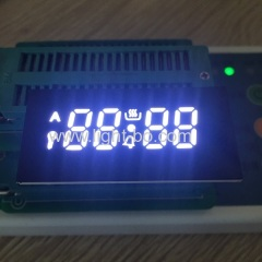 Customized ultra white 4 digit 7 segment led display for oven timer control
